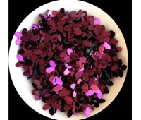 Пайетки цветочки, цвет пурпурный 10 мм