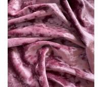 Бархат мраморный, цвет сливовый, 30х74 см