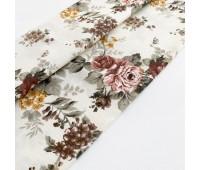 Ткань с водоотталкивающей пропиткой, цветы бордо