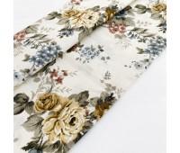 Ткань с водоотталкивающей пропиткой, цветы крем