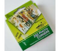 Уголки для крепления фотографий, Pioneer, 25 шт, прозрачные.