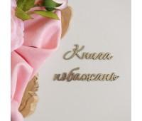 Надпись из пластика с зеркальным покрытием, Книга побажань, серебро