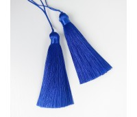 Подвеска кисточка, цвет синий электро, 8,5 см