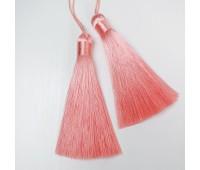 Подвеска кисточка, цвет персиковый, 8,5 см