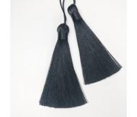 Подвеска кисточка, цвет черный, 8 см