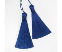 Подвеска кисточка, цвет синий, 8,5 см
