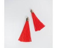 Подвеска кисточка, цвет красный, 5,5 см