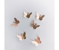 Подвеска бабочка металлическая, цвет розовое золото, 1-1,5 см