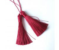 Подвеска кисточка, цвет малиновый, 8,5 см