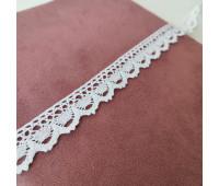 Кружево вязанное белое, 1,5 см