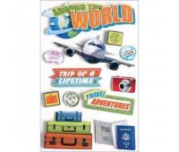 Наклейки 3D World Travel