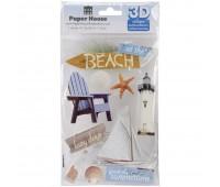 Наклейки обьемные 3D At The Beach