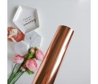 Фольга горячего тиснения, цвет розовое золото, 32-100 см
