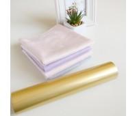 Фольга тонерочувствительная, цвет матовое светлое золото, 10-20,5 см