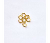 Кольцо соединительное, цвет золото, 0,8 см, 10 шт