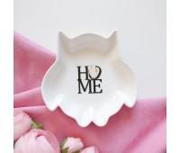 Тарелка декоративная сова HOME, с золотым фольгированием, 13х13 см