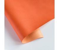 Переплетный матовый кожзам, цвет морковный 22, 25-35 см