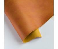 Переплетный матовый кожзам, цвет горчичный 24, 25-35 см
