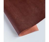 Переплетный матовый кожзам с текстурой дерево, цвет темно-коричневый 70, 25-35 см