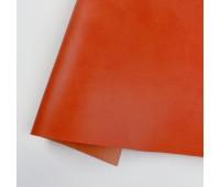 Переплетный матовый кожзам, цвет оранжевый, 35*25 см