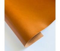 Переплетный глянцевый кожзам с мелкой фактурой, цвет коричневый, 25-35 см