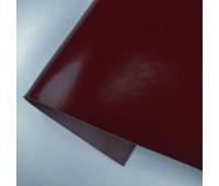 Переплетный глянцевый кожзам, цвет бордо, 25*35 см