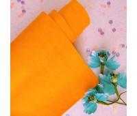 Переплетный матовый текстурный кожзам, цвет апельсиновый