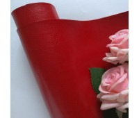 Переплетный глянцевый кожзам, цвет красный