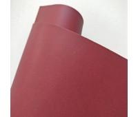 Переплетный матовый кожзам, цвет бордо, 25-35 см