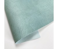 Переплетный матовый кожзам c фактурой мятой кожи Мантуя, цвет серо-голубой, 50х140 см
