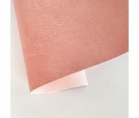 Переплетный матовый кожзам c фактурой мятой кожи Мантуя, цвет персиковый, 50х140 см