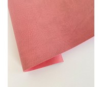 Переплетный матовый кожзам c фактурой мятой кожи Мантуя, цвет пыльная роза, 50х140 см
