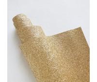 Глиттерный кожзам, цвет светло-золотой, 25-45 см