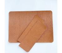 Текстурная заготовка для обложки на паспорт из кожзама, 13,5х19 см