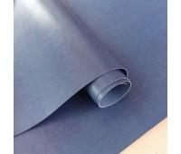 Переплетный глянцевый кожзам с фактурой, цвет приглушенный синий, 25х35 см