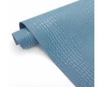 Переплетный матовый кожзам c фактурой крокодила, цвет серо-синий, 25х35 см