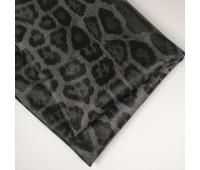 Кожзам стретч леопард, цвет серый, 25-35 см