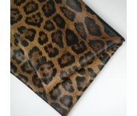 Кожзам стретч леопард, цвет светло-коричневый, 25-35 см
