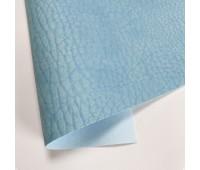 Переплетный матовый кожзам с фактурой сахары, цвет голубой, 50х140 см
