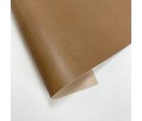 Переплетный матовый кожзам с мелкой фактурой кожи, цвет капучино, 50х140 см