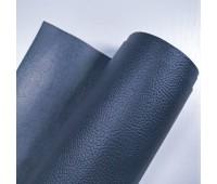 Переплетный матовый кожзам с фактурой буйвола, цвет темно-синий, 25-35 см