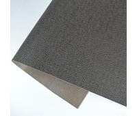 Переплетный матовый кожзам c фактурой льна, цвет коричневый, 25*35 см