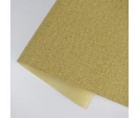 Переплетный матовый кожзам c фактурой льна, цвет желтый, 25*35 см