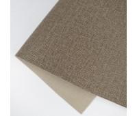 Переплетный матовый кожзам c фактурой льна, цвет светло-коричневый, 25*35 см