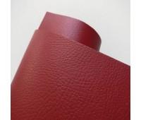 Переплетный матовый кожзам с фактурой буйвола, цвет красный, 25-35 см