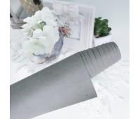 Переплетный матовый текстурный кожзам, цвет серый с бежевым, 25х35 см