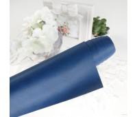 Переплетный матовый текстурный кожзам, цвет темно-синий, 25х35 см