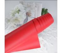 Переплетный матовый текстурный кожзам, цвет красный, 25х35 см