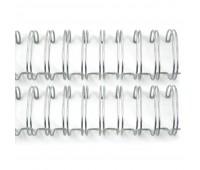 Металлическая пружина 2,5 см, серебренная, 2 шт