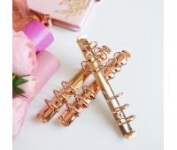 Кольцевой механизм А6 - 17,5 см,  2,5 см диаметр кольца, цвет розовое золото